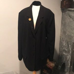 Casual corner plus Annex crepe blazer lined black